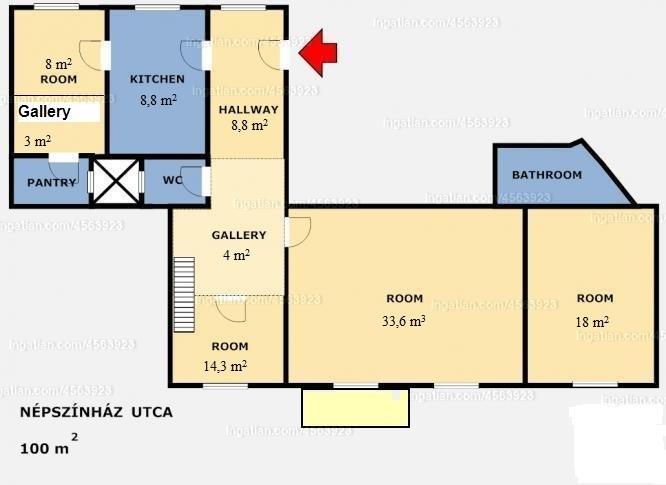 Ingatlan, eladó lakás, 8. kerület, Népszínház utca